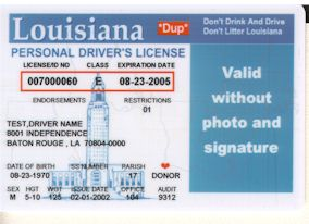 Id card issuers for Louisiana id template